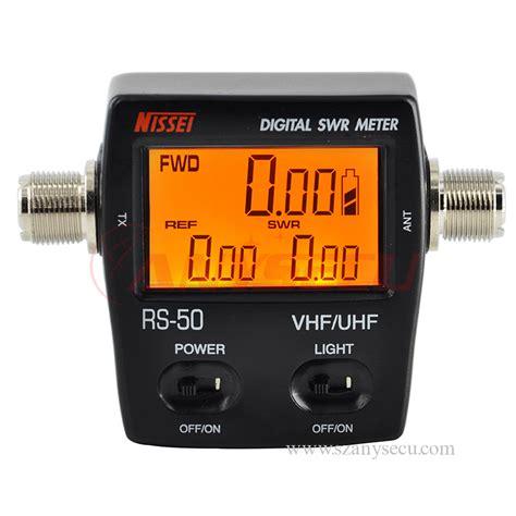 Swr Meter Digital vu meter nissel rs50 digital swr power meter 125 525 mhz uhf vhf dual band meter for md 380 pd