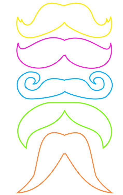 best photos of mustache photo prop templates mustache