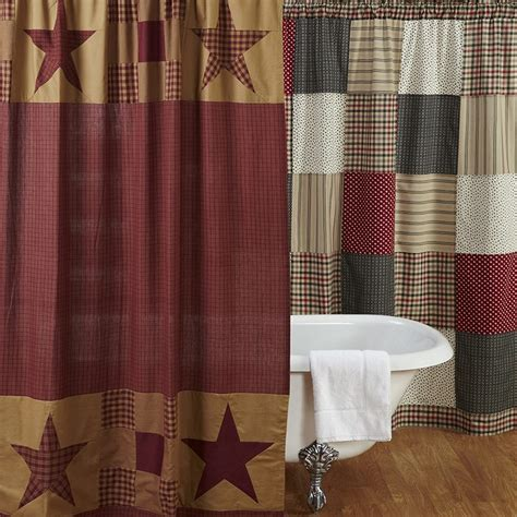 country shower curtains and accessories vhc country and primitive shower curtains