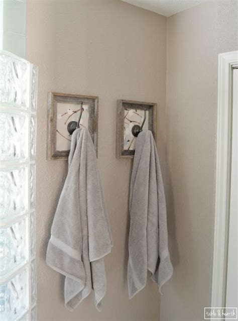 bathroom towel hooks ideas hometalk framed fabric towel hook update