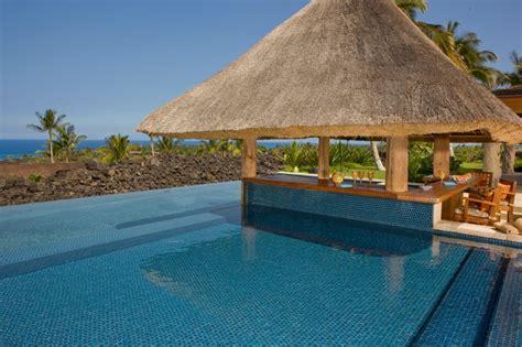 Tropical Decorations For Home kona coast tropical pool hawaii by saint dizier design