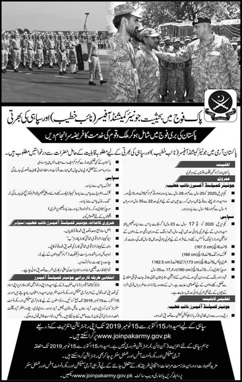 Join Pak Army As Junior Commissioned Officer 2019