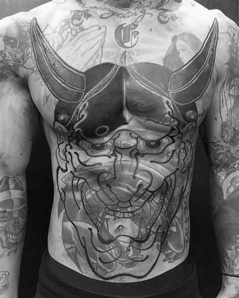 hannya mask tattoo black hannya mask tattoo black ink amazing hannya mask design