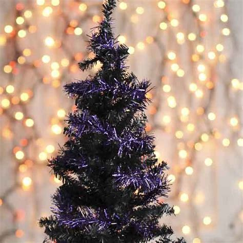 purple tinsel garland christmas garlands christmas and