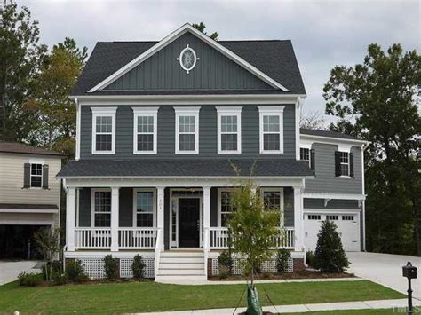 grey blue new home exterior color white trim is a must painted brick exterior