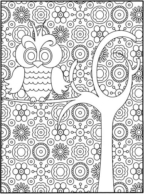 free owl coloring pages for adults free owl coloring page
