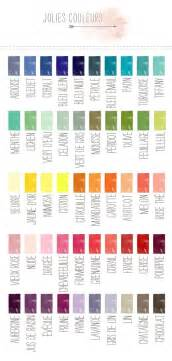 advance the colors your detailed color names