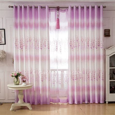 floral bedroom curtains pastoral purple floral pattern girls bedroom curtains