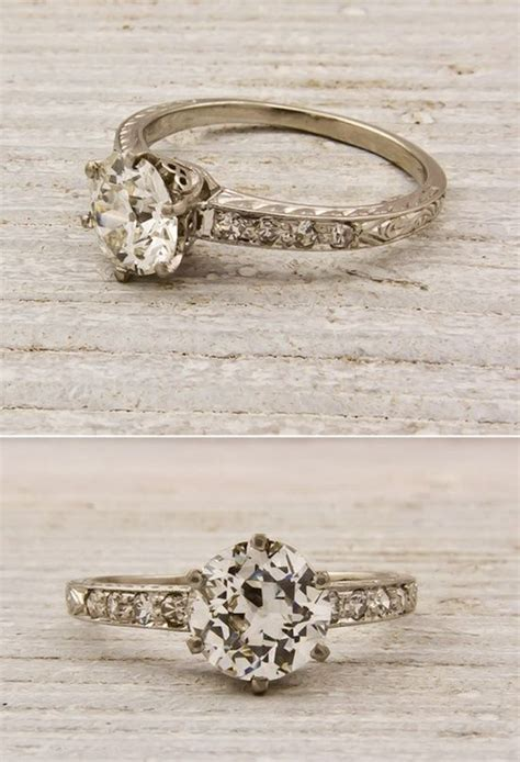 simple vintage engagement ring rally anything vintage y