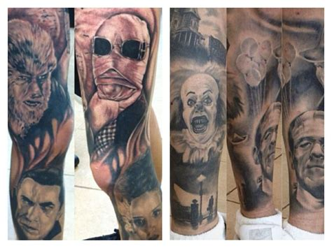 universal tattoo universal monsters horror ideas
