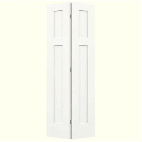 2 Panel Bifold Closet Doors Jeld Wen Smooth 2 Panel Craftsman Hollow Molded Interior Closet Bi Fold Door Thdjw160200106