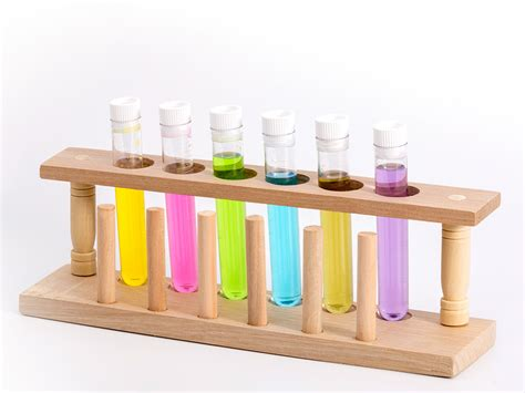 wooden test tube rack montessori by mom