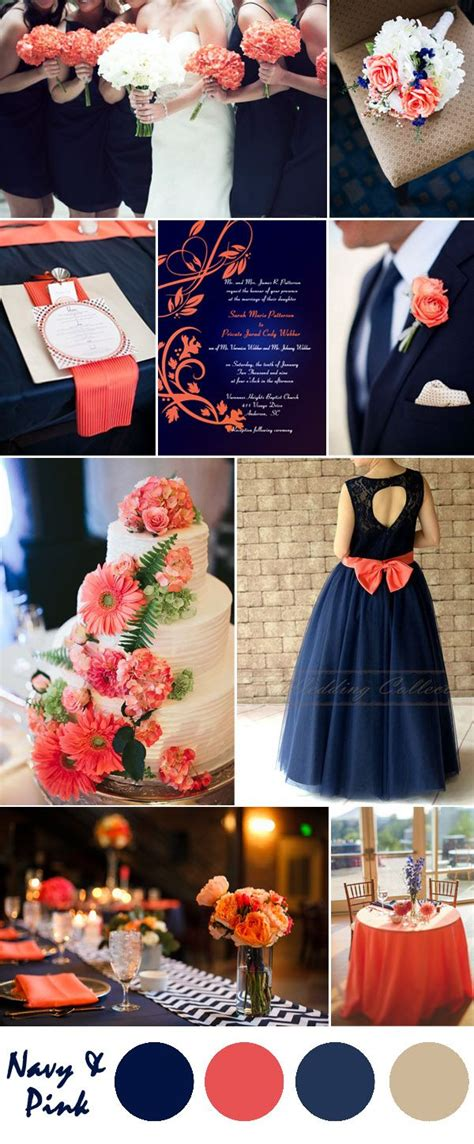 coral and chagne wedding 25 best ideas about navy wedding colors on