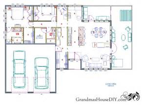 Free Ranch House Plans Free House Plan Of A One Story Easy Going Ranch