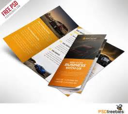 Brochure Design Templates Free Psd by Car Dealer And Services Trifold Brochure Free Psd