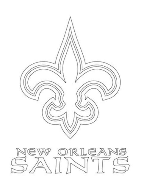 new orleans saints logo coloring page supercoloring com