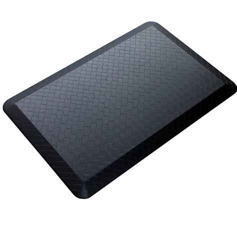 black modern indoor cushion kitchen rug anti fatigue floor mat