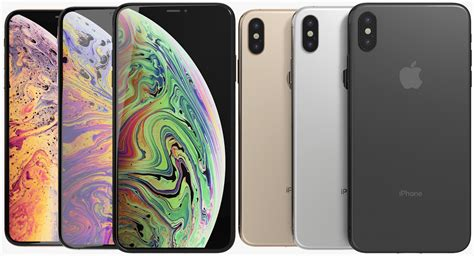 3d model realistic apple iphone xs turbosquid 1327402