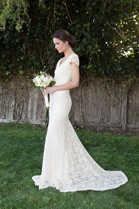 Patchwork Wedding Dress - bohemian wedding dress stretch lace gown with