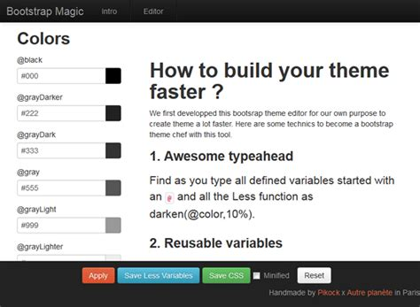bootstrap themes generator create your own twitter bootstrap theme w3lessons info