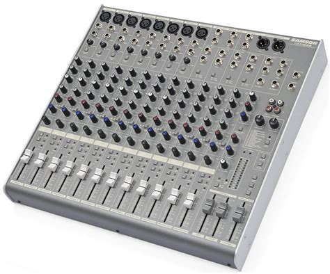 Mixer Audio Samson samson mdr1688 16 channel 8 mic line mixer with dsp