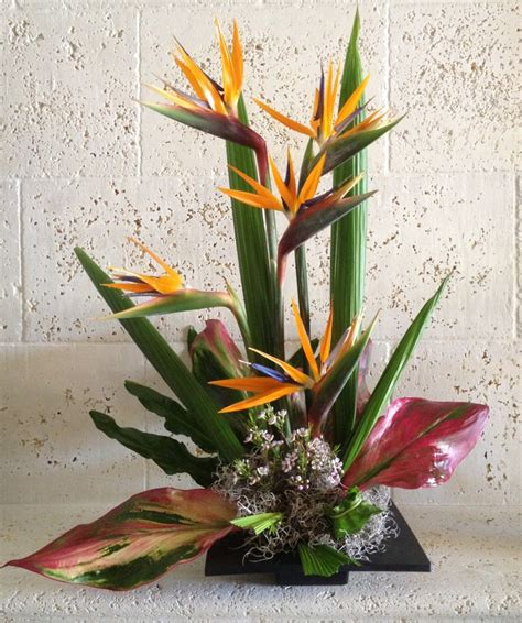 bird of paradise arrangement designed by arcadia floral bird of paradise tropical arrangement for all life s