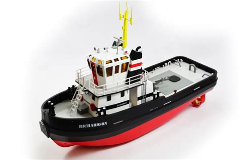 plastic boot met motor hobby engine premium label richardson tug boat 2 4ghz