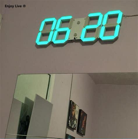 diy large display remote 3d led digital wall clock timer modern design home decor decorative big