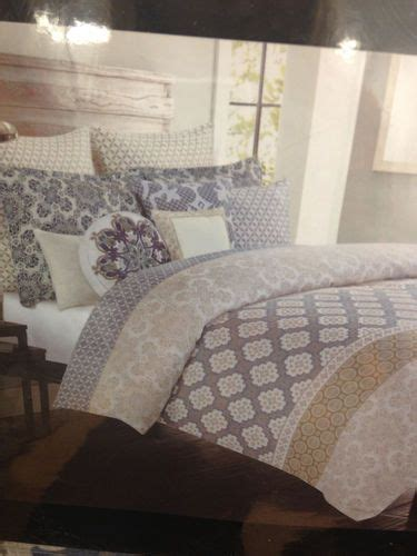 max studio taupe tan blue floral king comforter set cotton