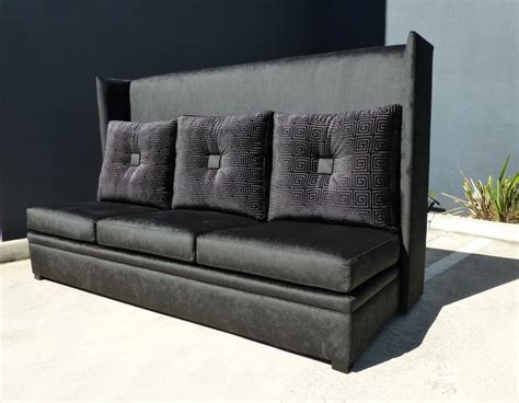 modern tall back wing sofa timeless interior designer