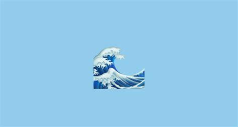 emoji of a wave water wave emoji