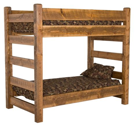 wooden bunk beds with futon bedroom attractive furniture for rustic bedroom furnishing