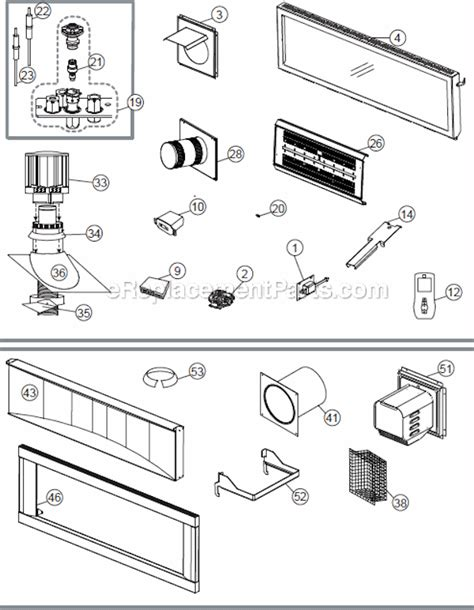 gas fireplace repair parts napoleon lhd50n parts list and diagram ereplacementparts
