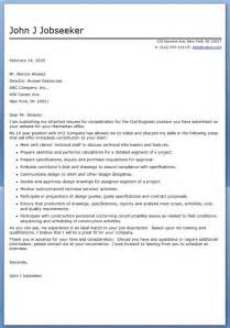 cover letter for civil engineer application resume