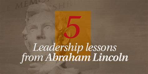 the vision room 5 leadership lessons from abraham lincoln