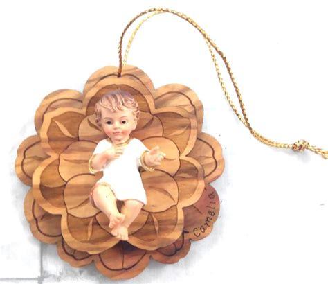 gesu bambino culla in legno cm 7 articoli regalo per