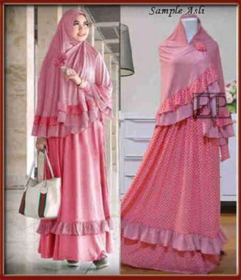 Baju Muslim Gamis Jumbo Baju Muslim Syari Thalia Jumbo Y1021 Gamis Jumbo