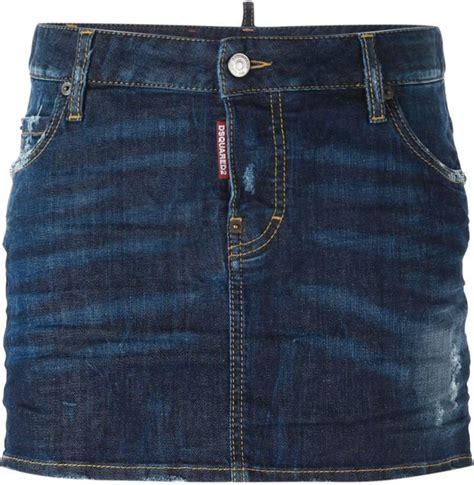 dsquared2 denim skirt shopstyle mini