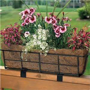deck railing planter gardenish