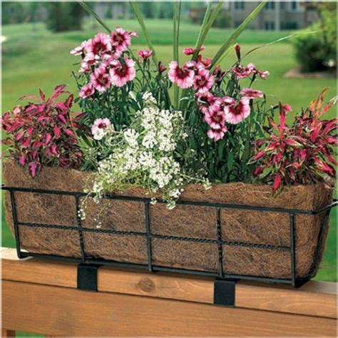 deck railing planter gardenish pinterest