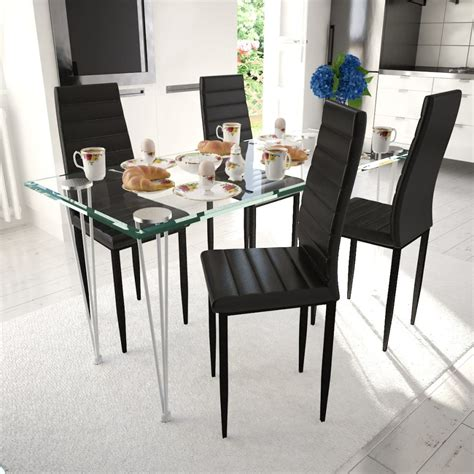 Slim Dining Chairs 4 Pcs Black Slim Line Dining Chair Vidaxl