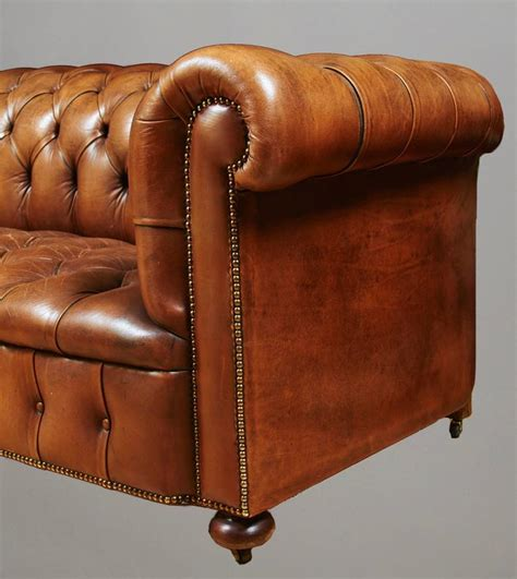 black leather sofa with nailhead trim tufted leather sofa with nailhead trim at 1stdibs