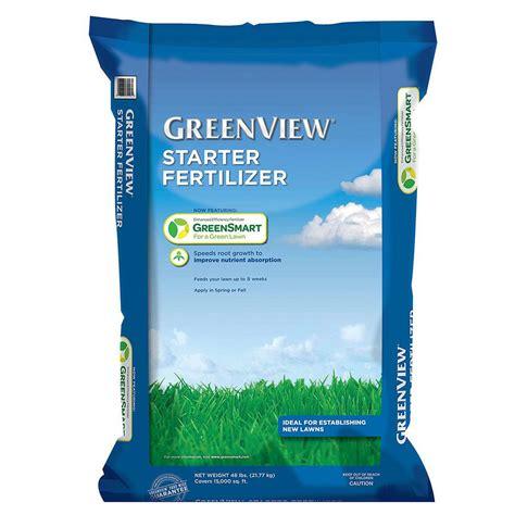 greenview 48 lbs starter fertilizer 2131185 the home depot