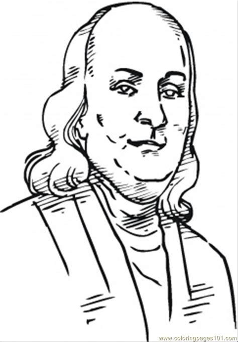 Coloring Pages Benjamin Franklin Countries Gt Usa Free Ben Franklin Coloring Page