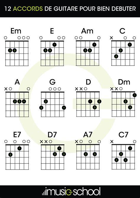 grille accord piano guitare d 233 butant 12 accords pour bien d 233 buter la guitare