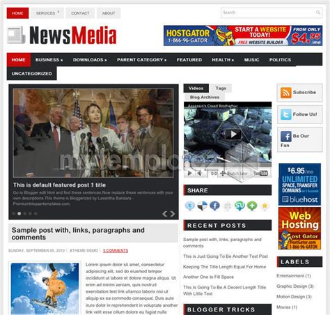 free templates blogger templates magazine news media