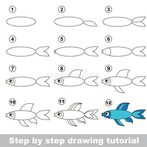 pesce clipart come disegnare un pesce illustrazione vettoriale