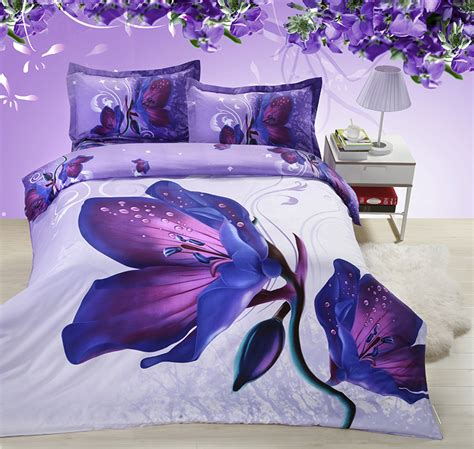 Cheap Duvet Sets Uk Shop Popular Purple Butterfly Bedding From China Aliexpress