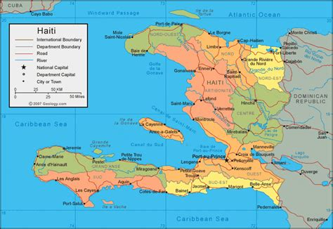 where is haiti on a world map haiti map and satellite image