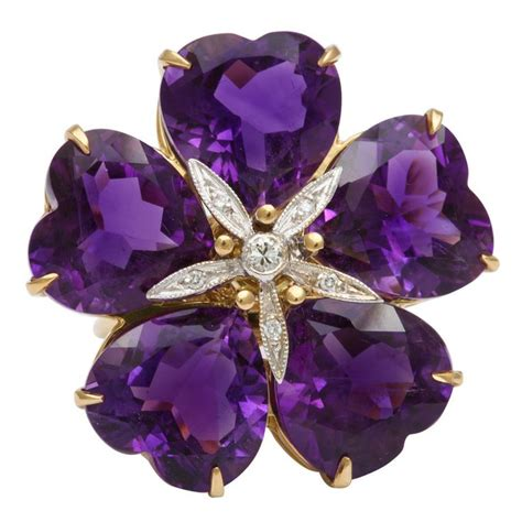 Gamis Purple Flower 1 michael kanners amethyst flower ring